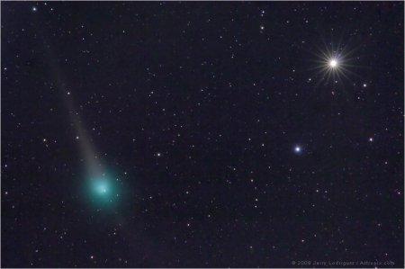 Комета Лулин и Сатурн вблизи противостояния